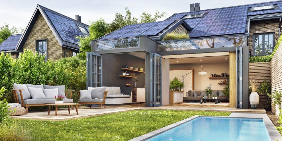 Φωτοβολταϊκά σε σπίτι