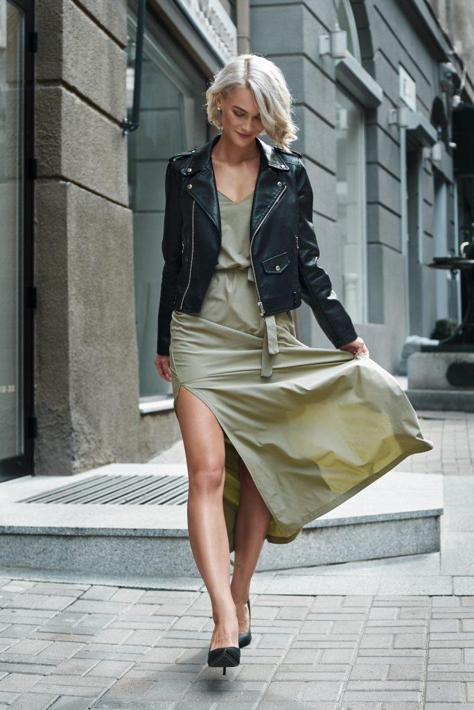 Maxi φόρεμα με jacket