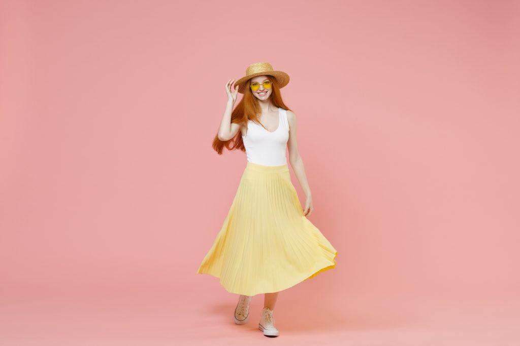 Κίτρινη φούστα
