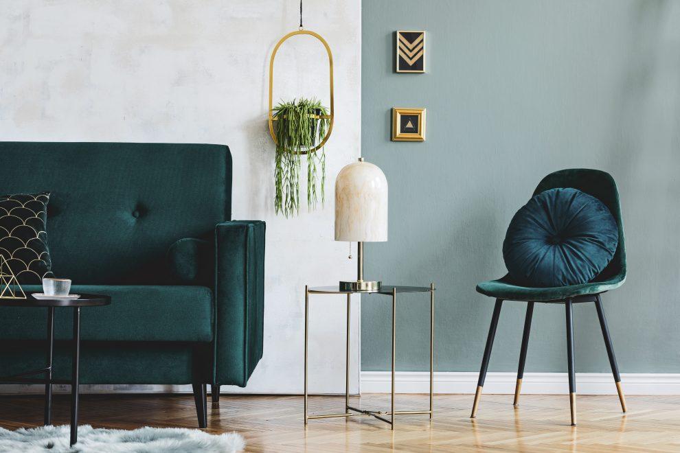 Σικ πράσινο σαλόνι