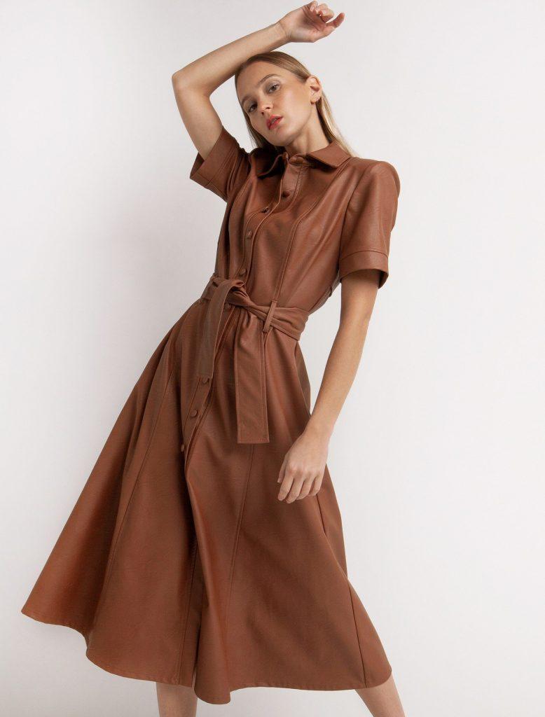 Toi & Moi δερμάτινο φόρεμα